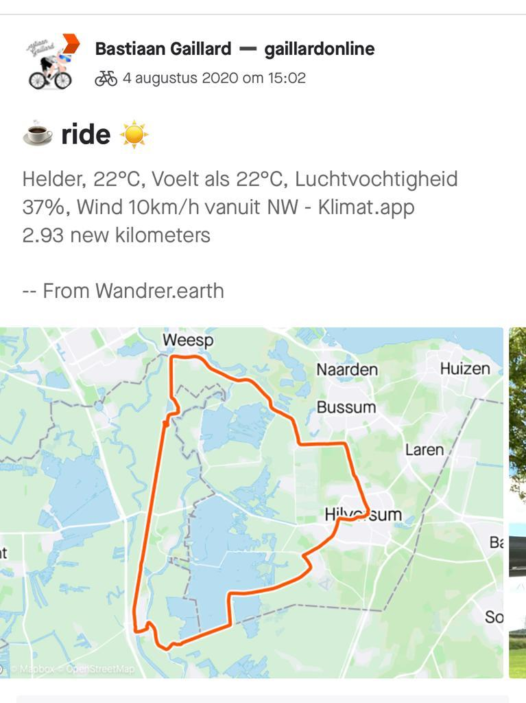 Wandrer in Strava App