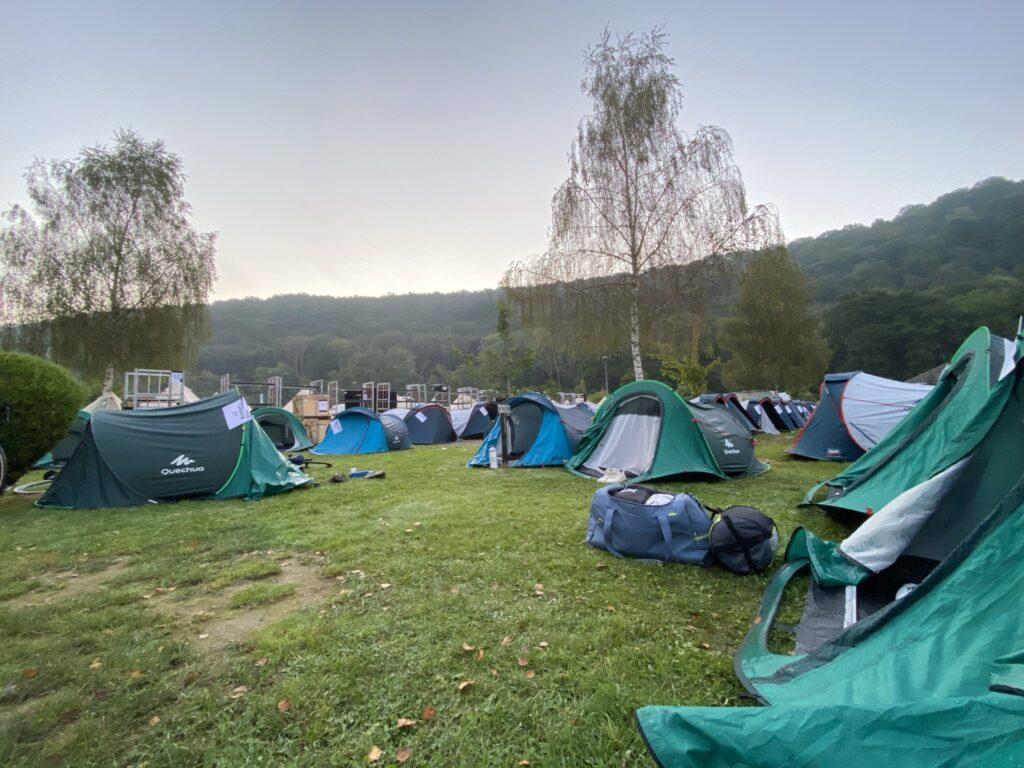 The Ride 2021 tentjes op de camping